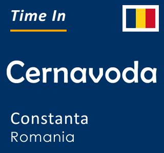Current time in Cernavoda, Constanta, Romania