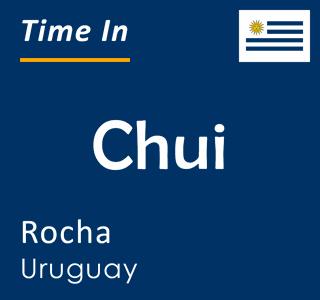 Current time in Chui, Rocha, Uruguay
