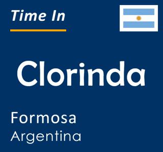Current time in Clorinda, Formosa, Argentina