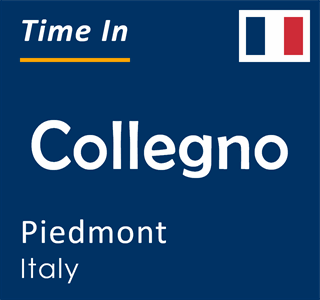 Current time in Collegno, Piedmont, Italy