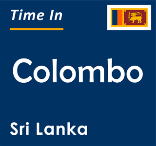 Current time in Colombo, Sri Lanka