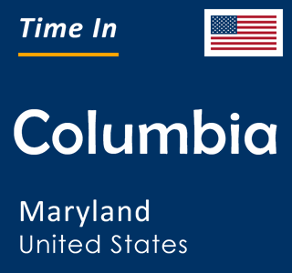 Current time in Columbia, Maryland, United States