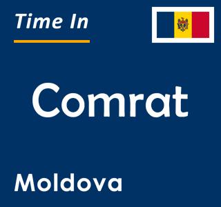 Current time in Comrat, Moldova