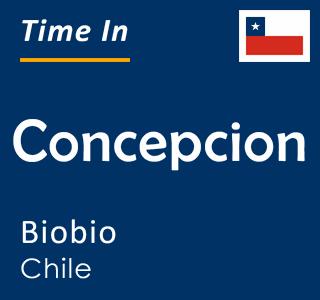 Current time in Concepcion, Biobio, Chile