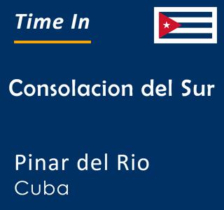 Current time in Consolacion del Sur, Pinar del Rio, Cuba