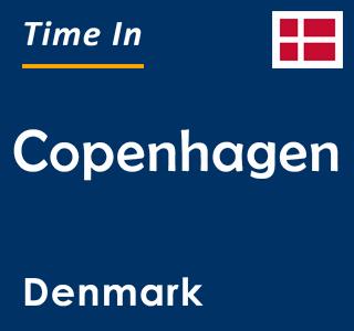 Current time in Copenhagen, Denmark