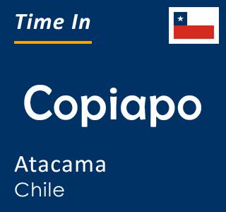 Current time in Copiapo, Atacama, Chile