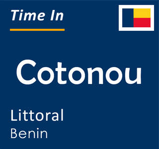 Current time in Cotonou, Littoral, Benin
