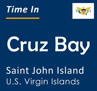 Current time in Cruz Bay, Saint John Island, U.S. Virgin Islands