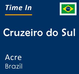 Current time in Cruzeiro do Sul, Acre, Brazil