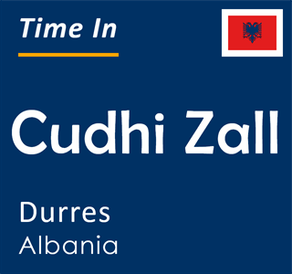 Current time in Cudhi Zall, Durres, Albania