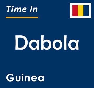 Current time in Dabola, Guinea