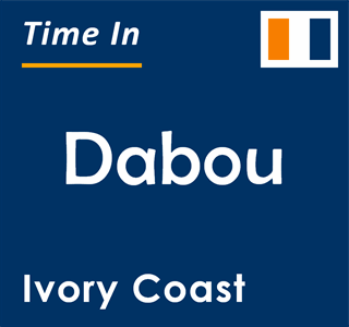 Current time in Dabou, Ivory Coast