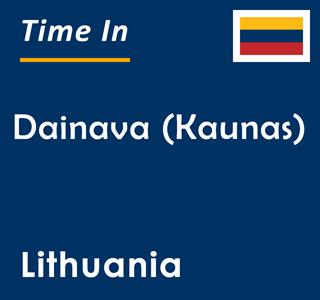 Current time in Dainava (Kaunas), Lithuania