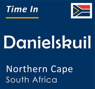 Current time in Danielskuil, Northern Cape, South Africa