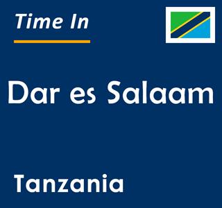Current time in Dar es Salaam, Tanzania