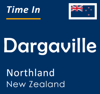 Current time in Dargaville, Northland, New Zealand