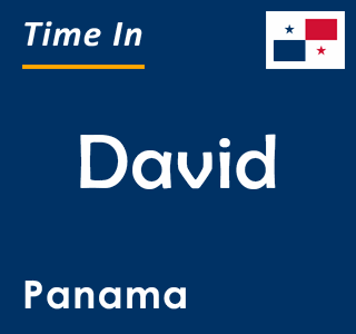 Current time in David, Panama