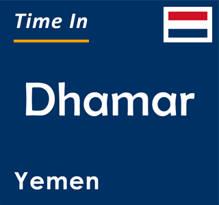 Current time in Dhamar, Yemen