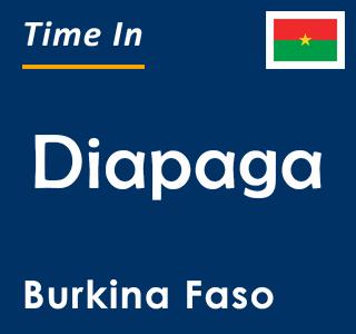 Current time in Diapaga, Burkina Faso