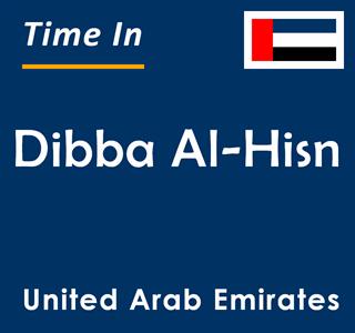 Current time in Dibba Al-Hisn, United Arab Emirates