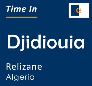 Current time in Djidiouia, Relizane, Algeria