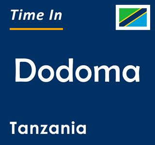 Current time in Dodoma, Tanzania