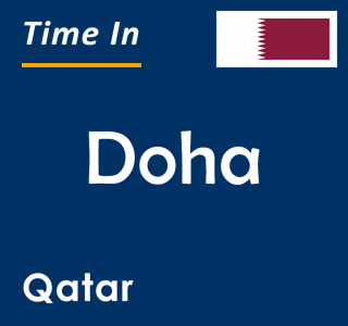 Current time in Doha, Qatar