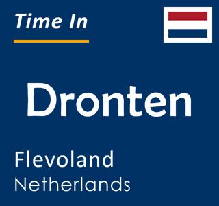 Current time in Dronten, Flevoland, Netherlands