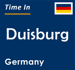 Current time in Duisburg, Germany