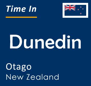 Current time in Dunedin, Otago, New Zealand