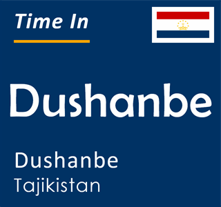 Current time in Dushanbe, Dushanbe, Tajikistan