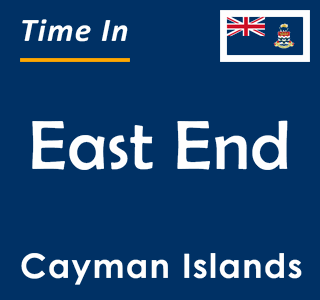Current time in East End, Cayman Islands