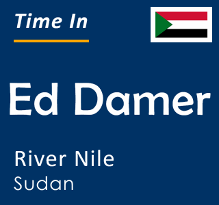 Current time in Ed Damer, River Nile, Sudan