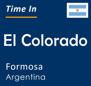 Current time in El Colorado, Formosa, Argentina