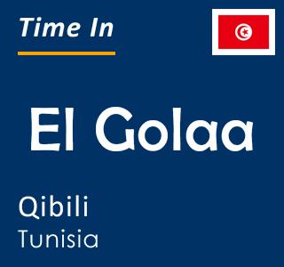 Current time in El Golaa, Qibili, Tunisia