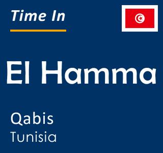 Current time in El Hamma, Qabis, Tunisia