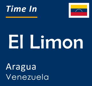 Current time in El Limon, Aragua, Venezuela
