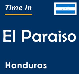 Current time in El Paraiso, Honduras