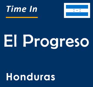 Current time in El Progreso, Honduras