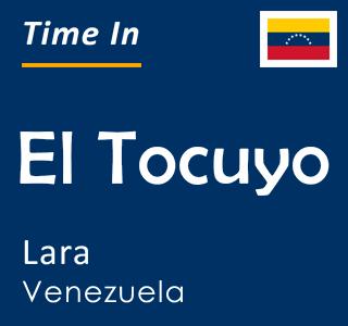 Current time in El Tocuyo, Lara, Venezuela