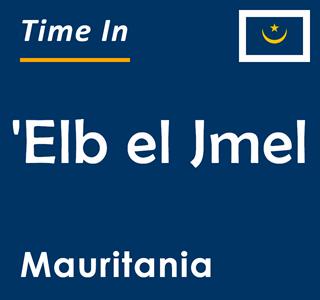 Current time in 'Elb el Jmel, Mauritania