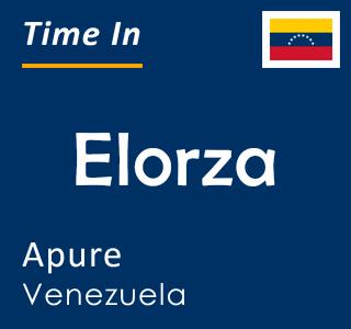 Current time in Elorza, Apure, Venezuela