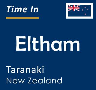Current time in Eltham, Taranaki, New Zealand