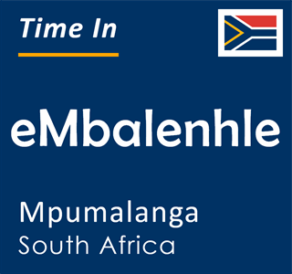Current time in eMbalenhle, Mpumalanga, South Africa