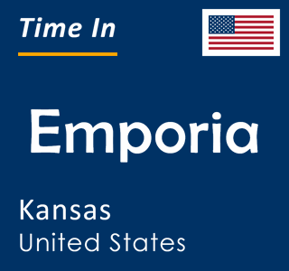 Current time in Emporia, Kansas, United States