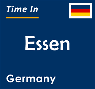 Current time in Essen, Germany