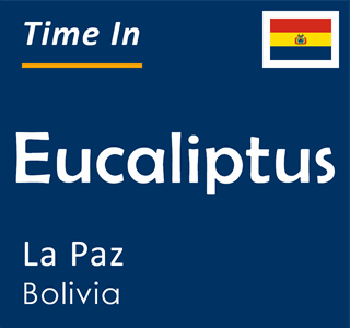 Current time in Eucaliptus, La Paz, Bolivia