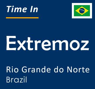 Current time in Extremoz, Rio Grande do Norte, Brazil