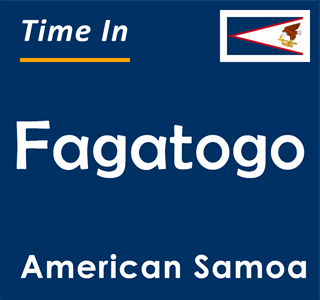Current time in Fagatogo, American Samoa